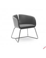 Stylowy fotel RANDI biało - popielaty w sklepie Dedekor.pl