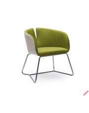 Modny fotel wypoczynkowy RANDI biało-zielony w sklepie Dedekor.pl