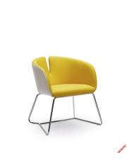 Rewelacyjny fotel RANDI biało-żółty w sklepie Dedekor.pl