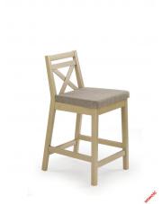 Piękne krzesło barowe MAURI - dąb sonoma w sklepie Dedekor.pl