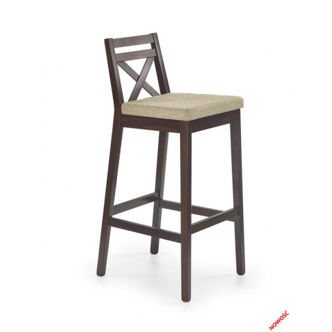 Nowoczesne krzesło barowe MAUDI - ciemny orzech w sklepie Dedekor.pl