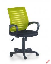 Czarno-zielony fotel pracowniczy FORBIS w sklepie Dedekor.pl