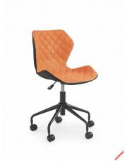 Czarno-pomarańczowy fotel młodzieżowy VIOLA w sklepie Dedekor.pl
