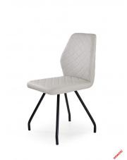 Popielate krzesło RAFAELLO - eco skóra w sklepie Dedekor.pl
