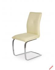 Waniliowe krzesło MILDO - eco skóra w sklepie Dedekor.pl