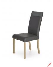 Drewniane krzesło ALBERT popiel - eco skóra w sklepie Dedekor.pl
