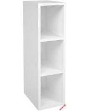 Otwarta górna szafka do kuchni MONTIS biała w sklepie Dedekor.pl