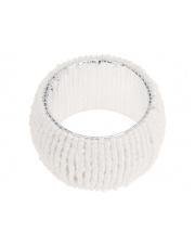 Eleganckie pierścienie na serwetki 4 szt białe  w sklepie Dedekor.pl