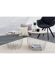 Industrialny zestaw stolików LEONE - 2 sztuki w sklepie Dedekor.pl