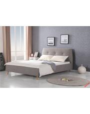 Komfortowe łóżko HALIE - popielate w sklepie Dedekor.pl