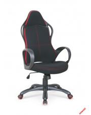 Stylowy fotel gabinetowy REON czarno-czerwony w sklepie Dedekor.pl