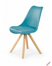 Modernistyczne krzesło GIORRO - turkusowe w sklepie Dedekor.pl