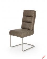 Popielate krzesło ANDREO - eco skóra w sklepie Dedekor.pl