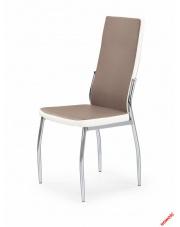 Stylowe krzesło TANNA - biel i cappuccino w sklepie Dedekor.pl