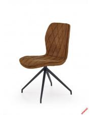 Designerskie krzesło BILLY - brązowe w sklepie Dedekor.pl