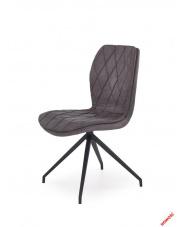 Popielate krzesło BILLY - eco skóra w sklepie Dedekor.pl