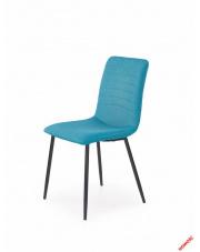 Modernistyczne krzesło HUBIS - turkusowy w sklepie Dedekor.pl