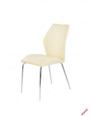 Waniliowe krzesło TORNEO - eco skóra w sklepie Dedekor.pl