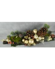 Świąteczna ozdoba na stół, stroik z szyszkami w sklepie Dedekor.pl