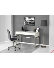 Komfortowe biurko OTTEO - biel i chrom w sklepie Dedekor.pl