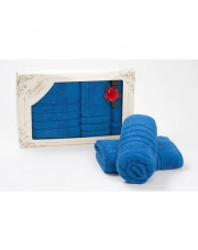 Zestaw ręczników Bamboo soft niebieskie 3 szt w sklepie Dedekor.pl