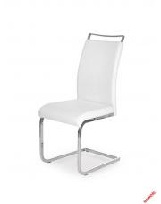 Nowoczesne krzesło LUIZE - białe w sklepie Dedekor.pl