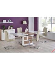 Modernistyczny stół ARTES - biel i dąb sonoma w sklepie Dedekor.pl