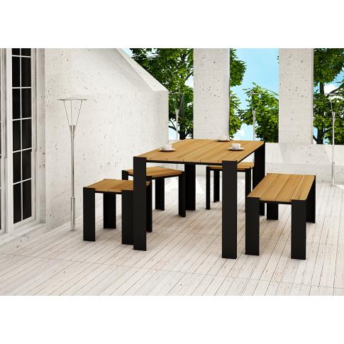 Stół tarasowy drewniany 150cm  w sklepie Dedekor.pl