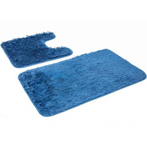 Zestaw Dywaników Do łazienki Grace 2 Sztuki Niebieskie