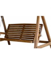 Siedzisko do huśtawki z drewna 3 osobowa brązowa w sklepie Dedekor.pl