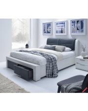 Komfortowe łóżko tapicerowane MODEO - eco skóra w sklepie Dedekor.pl