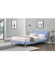 Piękne łóżko MARGIO 160cm - niebieskie