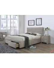 Nowoczesne łóżko MAREO - beżowe w sklepie Dedekor.pl