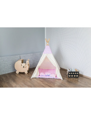 TIPI namiot beżowo różowy domek wigwam namiocik Indian