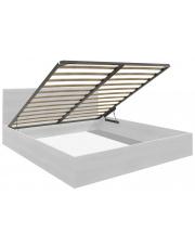 Łóżko ze skrzynią na pościel 140x200 cm białe + MATERAC! w sklepie Dedekor.pl
