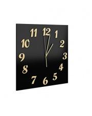Nowoczesny zegar szklany 40x40 cm w sklepie Dedekor.pl