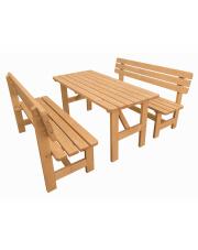 Komplet mebli ogrodowych stół + 2 ławki w sklepie Dedekor.pl