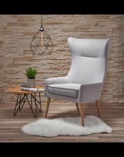 Modernistyczny fotel ALTER - jasny popiel w sklepie Dedekor.pl