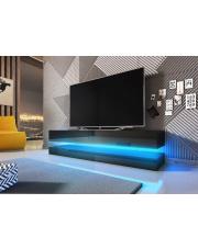 Modułowa szafka RTV wisząca z oświetleniem LED w sklepie Dedekor.pl