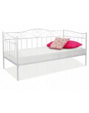 Łóżko metalowe białe 90x200 cm w sklepie Dedekor.pl