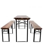 Zestaw piwny stół + 2 ławki w sklepie Dedekor.pl
