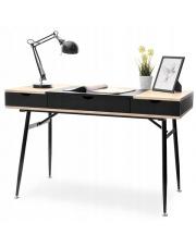 Designerskie biurko czarne z szufladami w sklepie Dedekor.pl