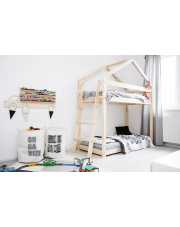 Łóżko piętrowe domek sosna