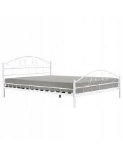 Łóżko młodzieżowe białe 140x200 cm w sklepie Dedekor.pl