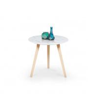 Jasny marmurkowy stolik - CALVAL w sklepie Dedekor.pl