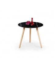Ciemny marmurkowy stolik - CALVAL w sklepie Dedekor.pl