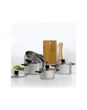 Komplet garnków Inox 7-elementowy z wkładem do gotowania na parze AMBITION w sklepie Dedekor.pl