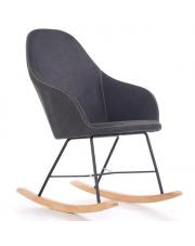 Wygodny Fotel bujany LAGOS tapicerowany w sklepie Dedekor.pl