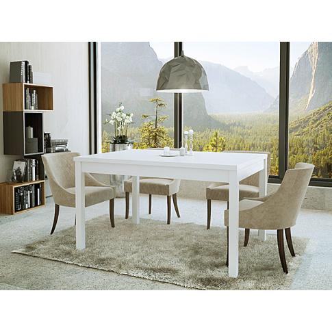 Rozkładany stół VITAS biały w sklepie Dedekor.pl
