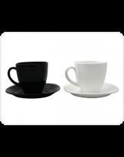Serwis Kawowy Carine biało-czarny